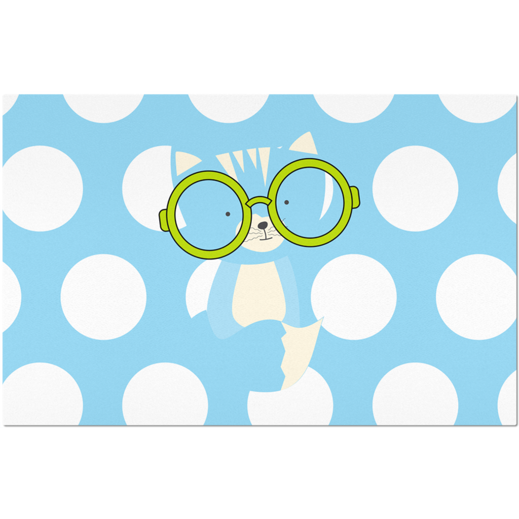 Placemats_Polka Dottie Smarty Pants Blue