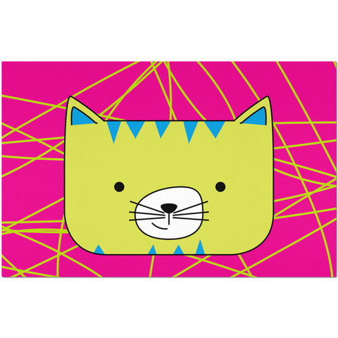 Placemats_Scribbles Cool Cat Pink