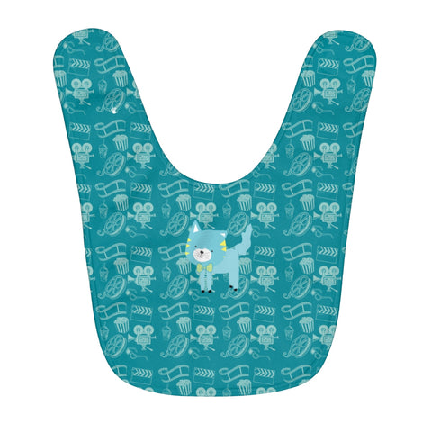 Fleece Baby Bib Cinema Silly Kitty Blues