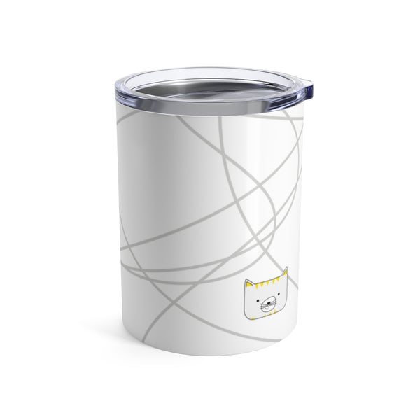 Tumbler Scribbles Cool Cat White