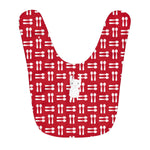 Fleece Baby Bib Hungry Funny Bunny Red