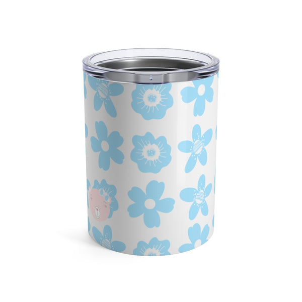 Tumbler Flower Power Bear Blue Pink