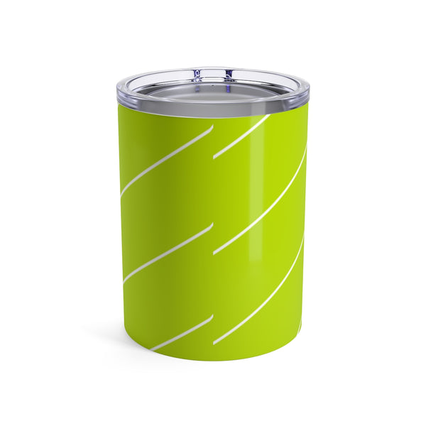 Tumbler Diagonal Stripes Cool Cat Green