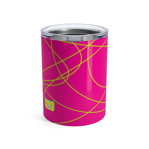 Tumbler Scribbles Cool Cat Pink