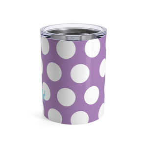 Tumbler Polka Dottie Silly Kitty Purple