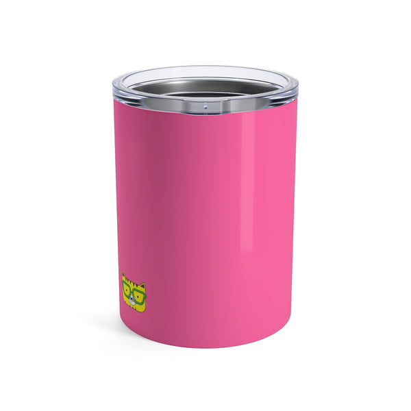 Tumbler Solid Pink Cool Cat