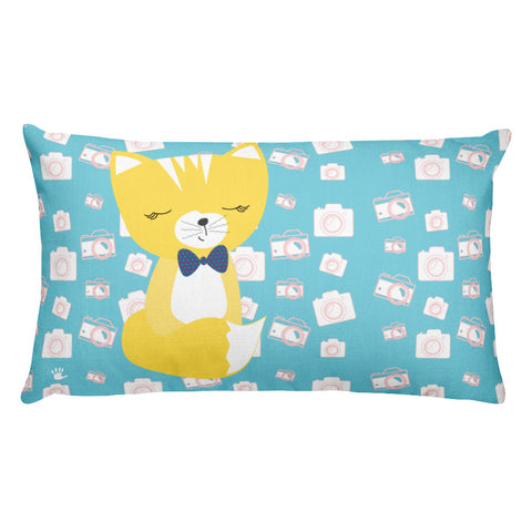 Premium Pillow_Say Cheese Smarty Pants Blue