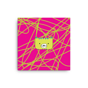 Canvas_Scribbles Cool Cat Pink