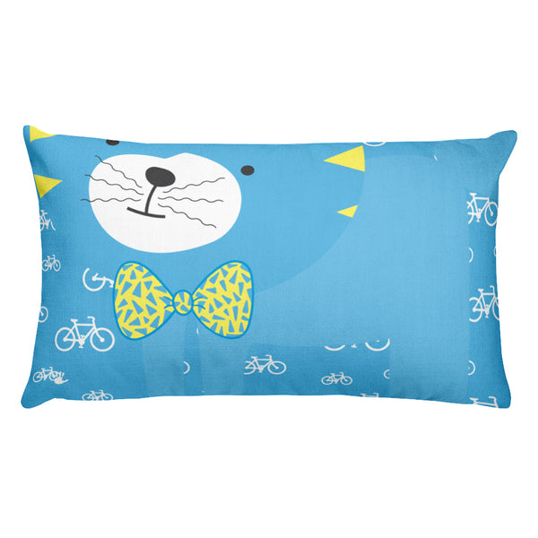 Premium Pillow_My Bike Silly Kitty Blue