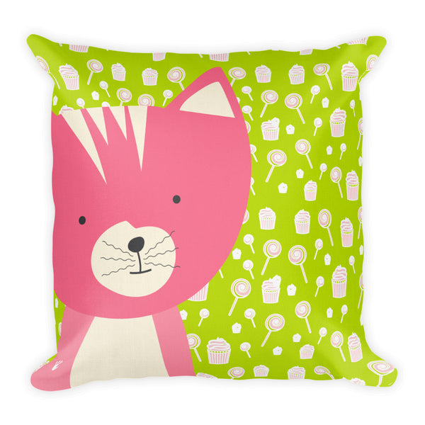 Premium Pillow_Sweetie Smarty Pants Green Pink