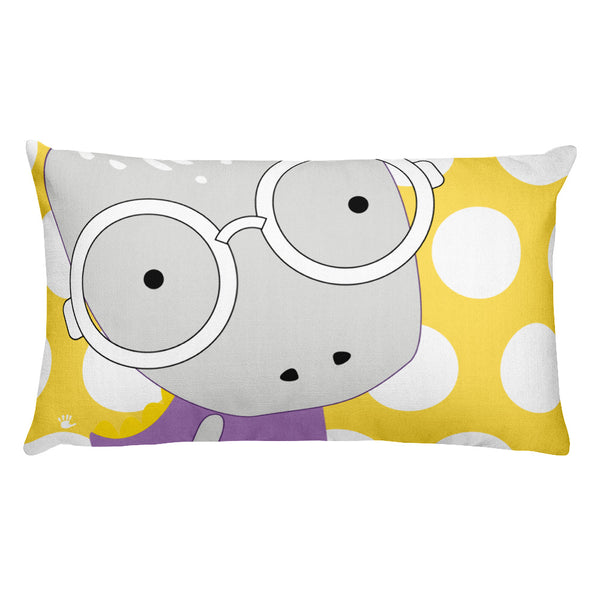 Premium Pillow_Polka Dottie Whinno Dino Yellow
