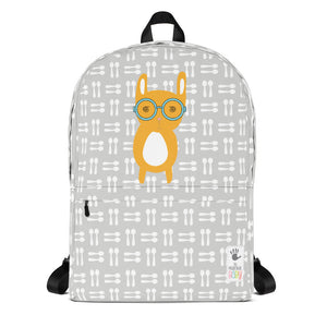 Backpack_Hungry Funny Bunny Grey