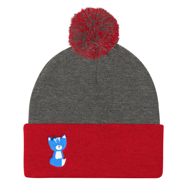 Pom Pom Knit Cap_My Bike Smarty Pants Blue