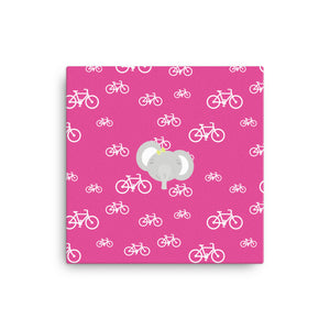 Canvas_My Bike Elephant Pink