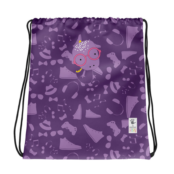 Drawstring Bag_Alternative Whinno Dino Purple