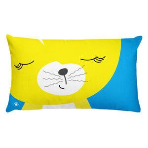 Premium Pillow_Solid Blue Smarty Pants