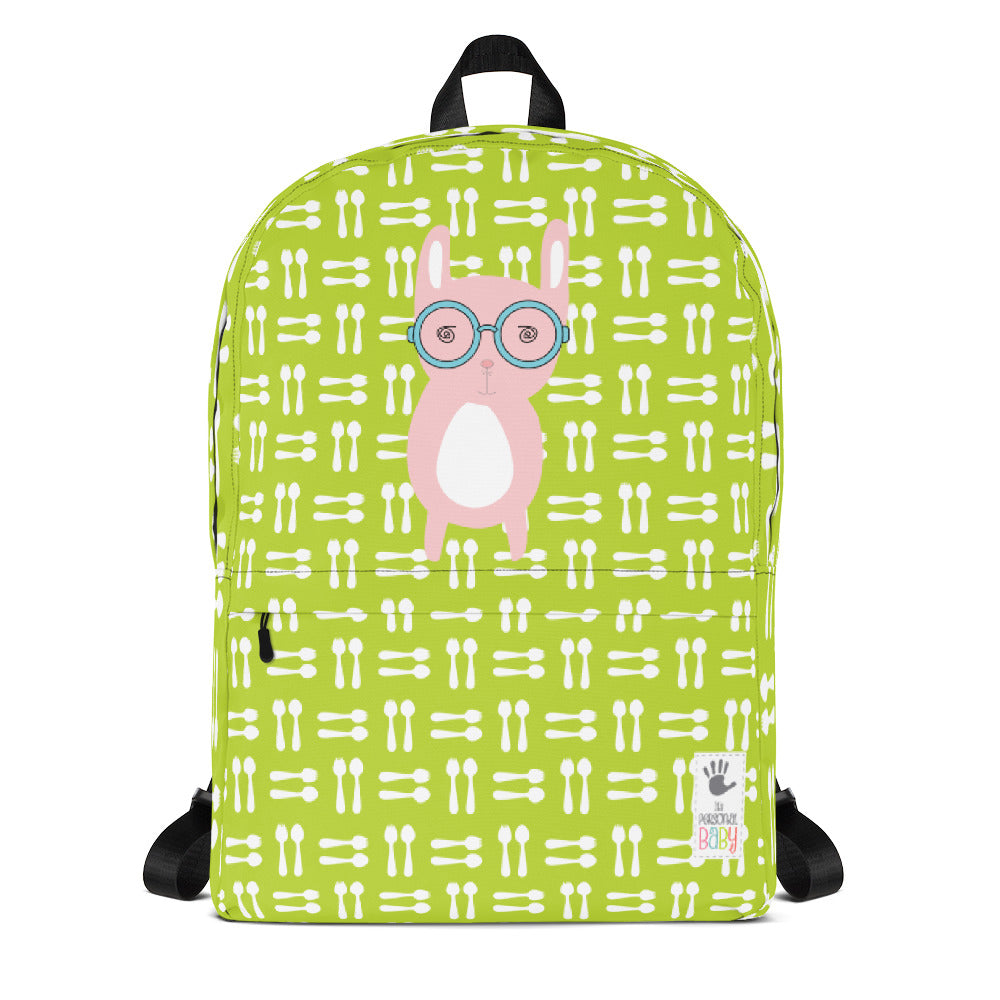 Backpack_Hungry Funny Bunny Green