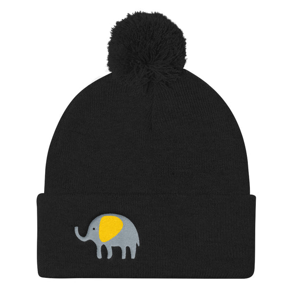 Pom Pom Knit Cap_Hungry Elephant Orange