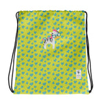 Drawstring Bag_I Love You Zebra Green
