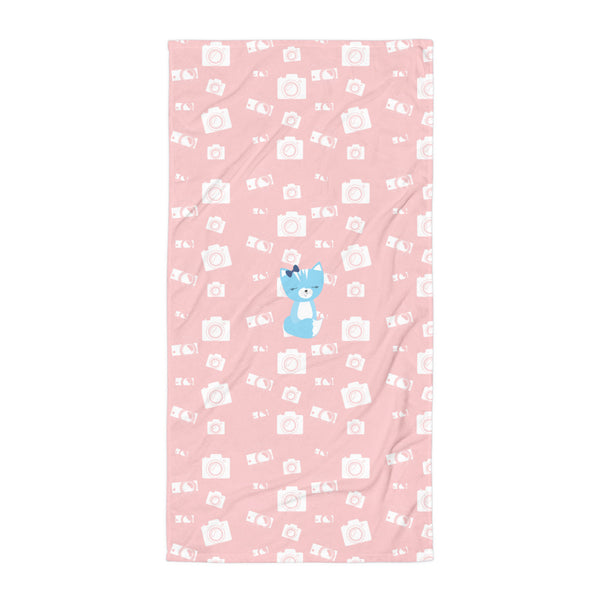 Towel_Say Cheese Smarty Pants Pink