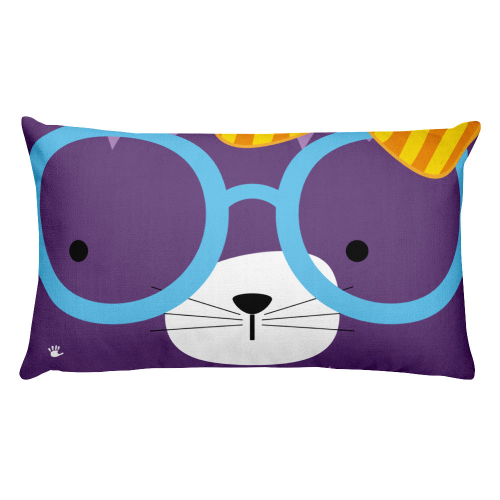 Premium Pillow_Diagonal Stripes Cool Cat Pink