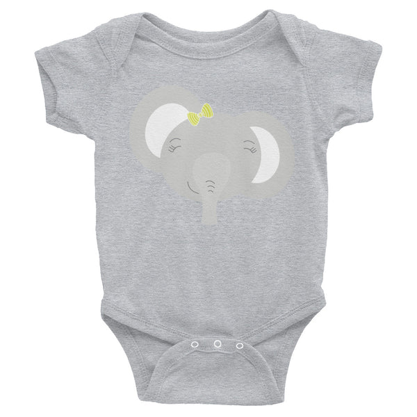 Infant Bodysuit_My Bike Elephant Pink