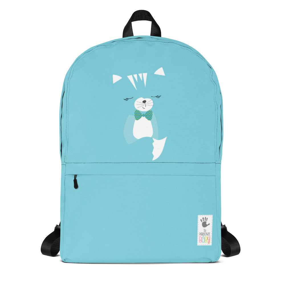 Backpack_Solid Blue Hidden Kitten