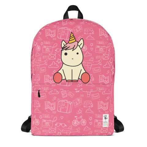 Backpack_See The World Unicorn Pink