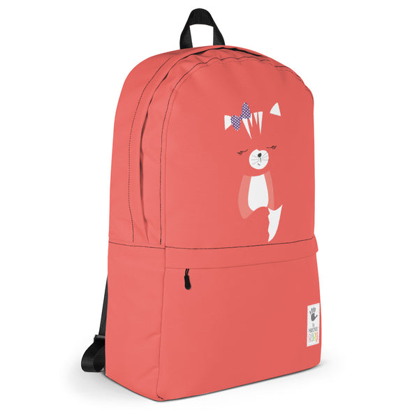 Backpack_Solid Red Hidden Kitten