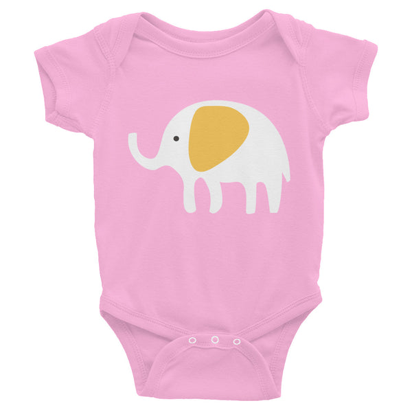 Infant Bodysuit_Hungry Elephant Orange