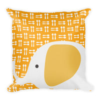 Premium Pillow_Hungry Elephant Orange