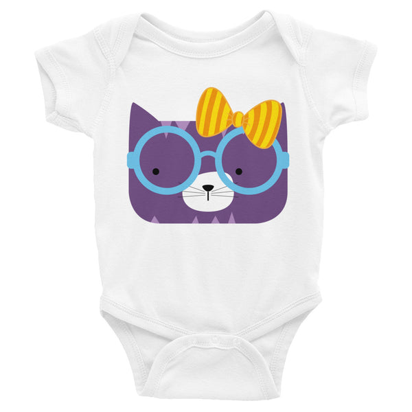 Infant Bodysuit_Diagonal Stripes Cool Cat Pink