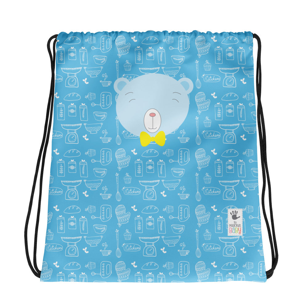 Drawstring Bag_Baking Bear Blue