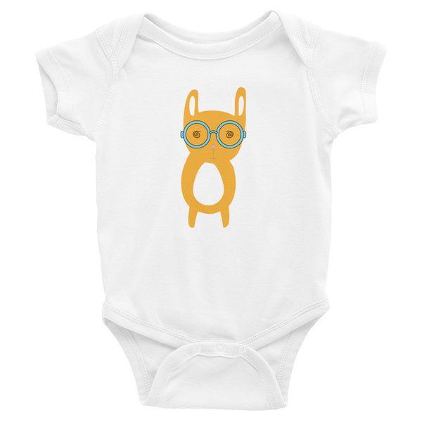 Infant Bodysuit_Hungry Funny Bunny Grey