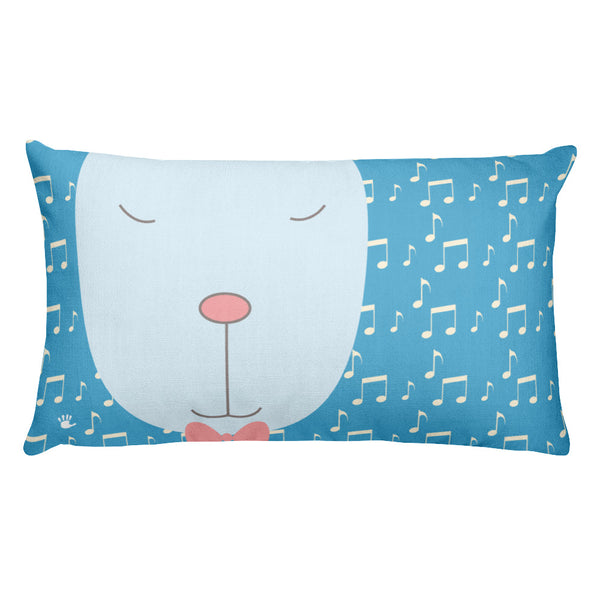 Premium Pillow_Music Notes Deer Blue