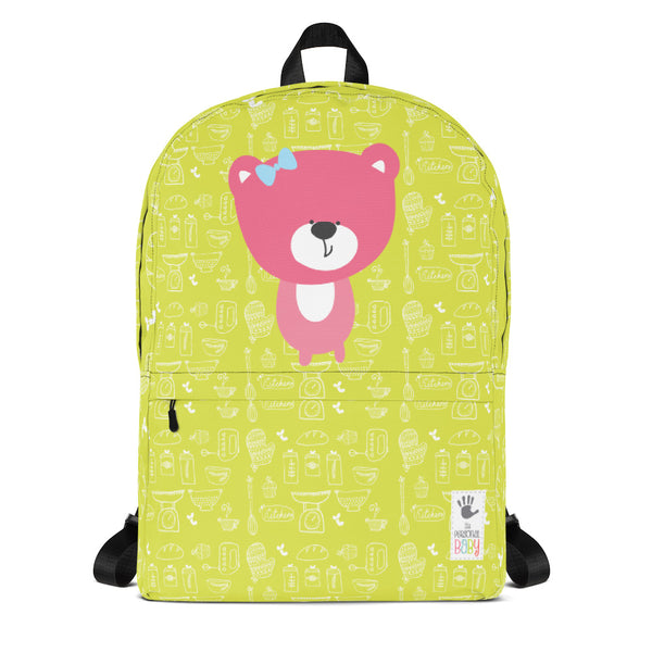 Backpack_Baking Bear Green Pink