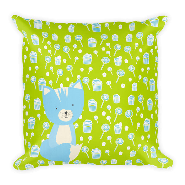 Premium Pillow_Sweetie Smarty Pants Green Blue