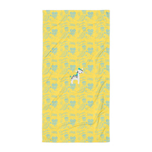 Towel_Cinema Zebra Yellow