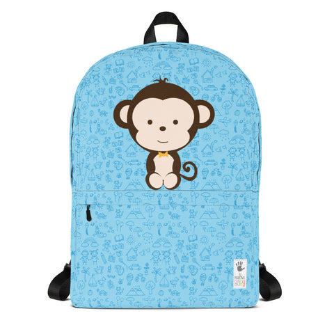 Backpack_My Everything Cheeky Monkey Blue