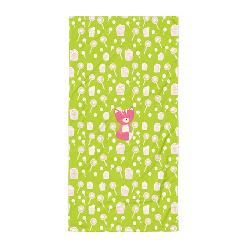 Towel_Sweetie Smarty Pants Green Pink