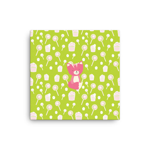 Canvas_Sweetie Smarty Pants Green Pink