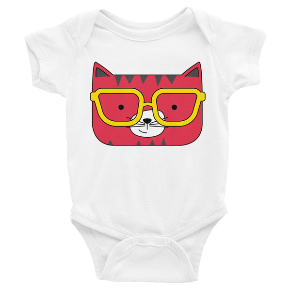 Infant Bodysuit_Solid Yellow Cool Cat