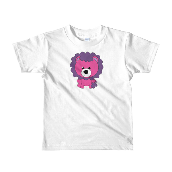 Kids T-Shirt_Scribbles Lion Lion Purple