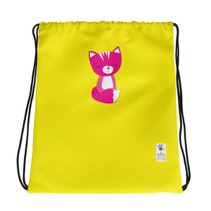 Drawstring Bag_Solid Yellow Smarty Pants