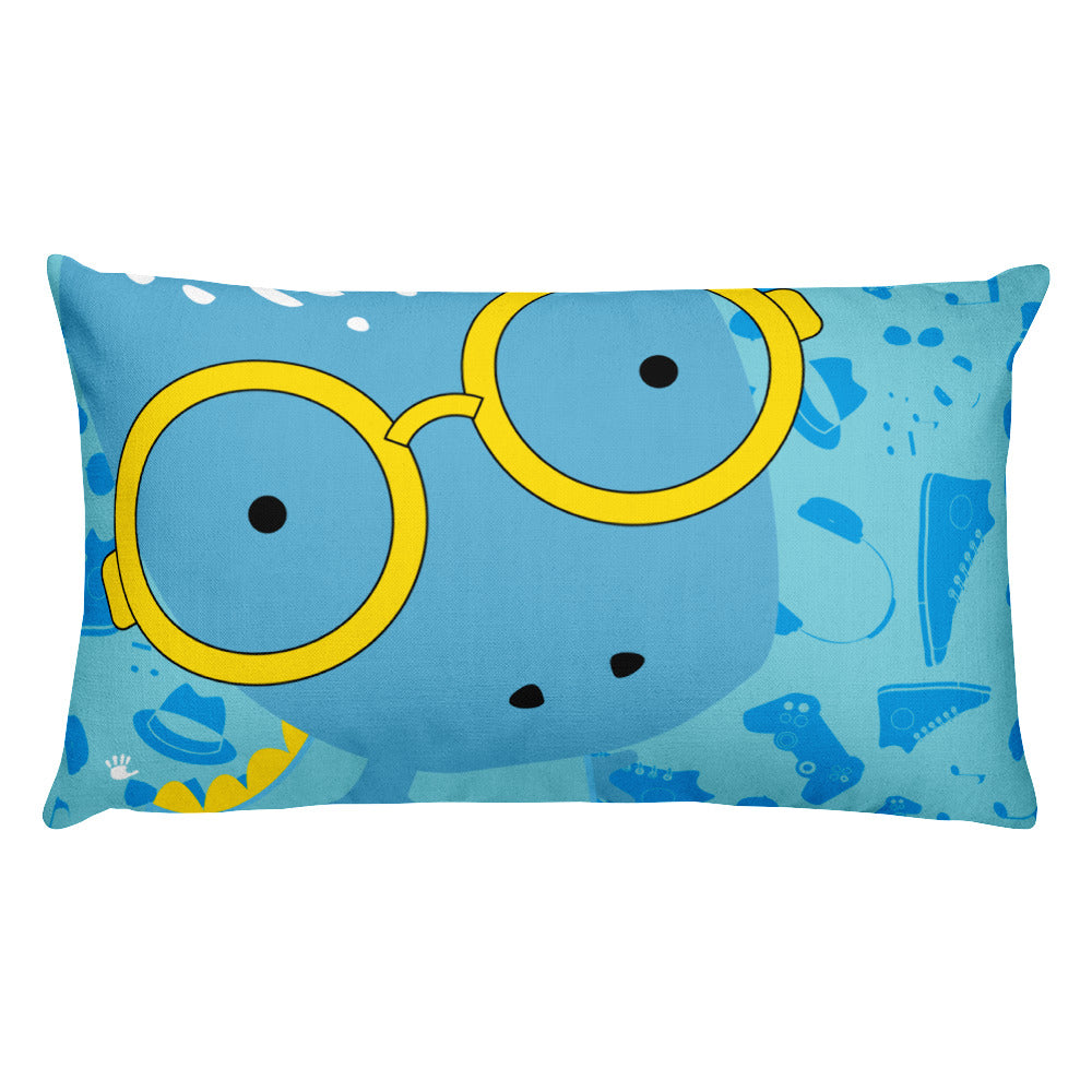 Premium Pillow_Alternative Whinno Dino Blue