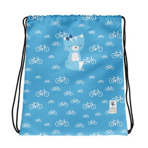 Drawstring Bag_My Bike Smarty Pants Blue