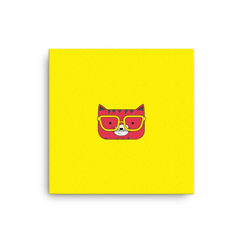 Canvas_Solid Yellow Cool Cat