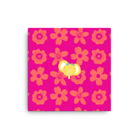 Canvas_Flower Power Elephant Pink