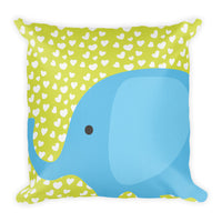 Premium Pillow_I Love You Elephant Green