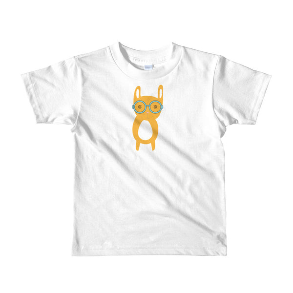 Kids T-Shirt_Hungry Funny Bunny Grey